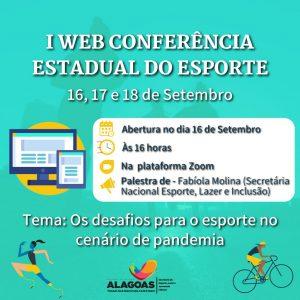 Selaj debate esporte e atividades físicas na Web Conferência Estadual do Esporte