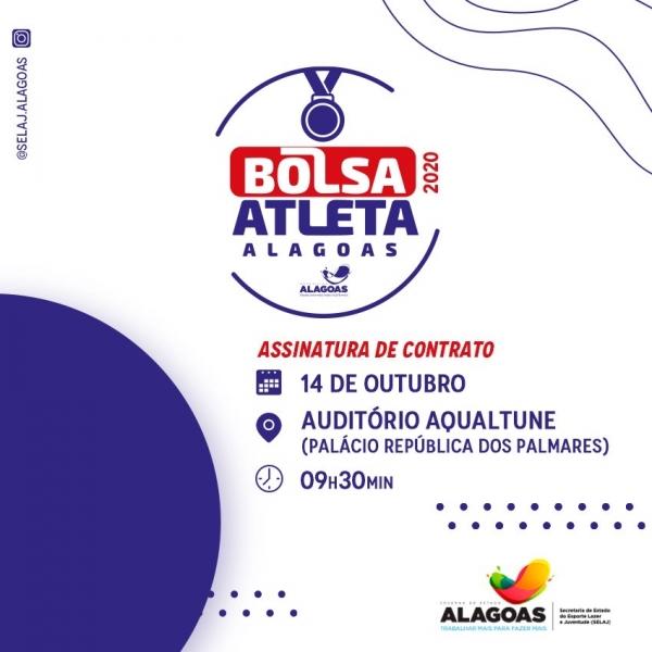 Selaj assina contratos do programa Bolsa Atleta Alagoas na próxima quarta-feira (14)